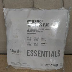 Martha Stewart Essentials Waterproof Mattress Pad,